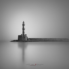 Hope - Chania, Crete (Julia-Anna Gospodarou) Tags: longexposure blackandwhite blackandwhitefineartphotography lighthouse seascape envisionography photographydrawing phtd architecture medieval juliaannagospodarou