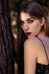 Alessia (luca.onnis) Tags: lucaonnis photography ritratto portrait portraiture lookingcamera greeneyes tree autumn