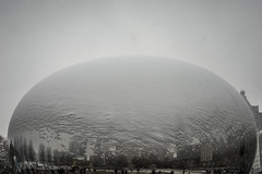 Just a hint of snow Bean - December 11, 2016 (Flipped Out) Tags: chicago millenniumpark cloudgate thebean northface anishkapoor mercuryrising