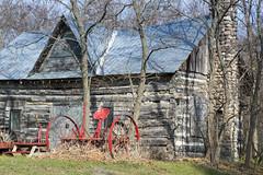 rustic charms (Barbara A. White) Tags: oldbarn farmstead farmmachinery canada