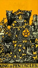 King of Pentacles (~ Lone Wadi ~) Tags: tarot tarotcards kingofpentacles pentacles blackmagic fortunetelling sorcery occult retro 1910s