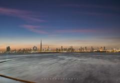 DUBAI CITY SUNSET VIEW (fhir.photograph) Tags: dubai creek harbour sunset landscape seascape waterscape city building blue sky panorama sony a7s sigma nisi singhray