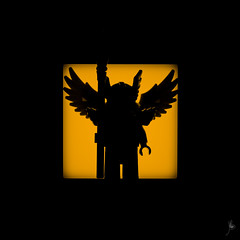 Shadow (284/100) - Flying Warrior (Ballou34) Tags: 2016 650d afol ballou34 canon eos eos650d flickr lego legographer legography minifigures photography rebelt4i stuckinplastic t4i toy toyphotography toys rebel stuck plastic photgraphy blackwhite light shadow enevucube minifigure 100shadows flying warrior wings wing helmet spear