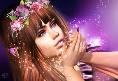Sparkles (meriluu17) Tags: fae fairy purple elf elven sparkle flower rose outdoor people girl magic magical fantasy surreal violet sg slackgirl portrait