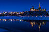 Blue Hour Reflections : January 8, 2017 (jpeltzer) Tags: ottawa winter gatineau museumofhistory reflections parliament parliamenthill peacetower