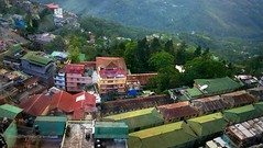 Gangtok cityscape (moon@footlooseforever.com) Tags: gangtok sikkim cityscape hill mountains ropeway panorama
