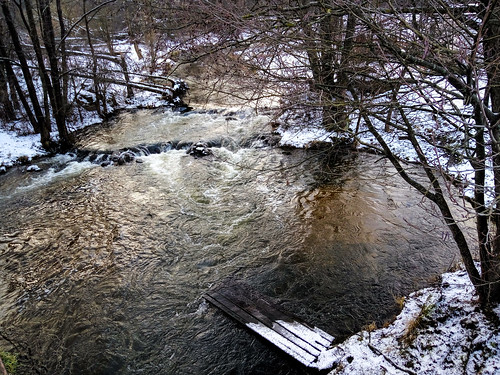River in january. Мiew from the bridge
