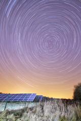 Eco Earth Rotations (mpelleymounter) Tags: stars star startrails nightsky dorsetnightsky rotation earthspinning dorsetlandscape markpelleymounter solarpanels solarfarm chapellanesolarfarm dorset ecosustainablesolutions greenpower greenelectricity parley bournemouth