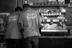 Kopi Kiosk Workers (DaveR1988) Tags: bali indonesia coffee roasting delicious kopi working fresh fujifilm fuji xf23 xpro2 bw blackandwhite sanur