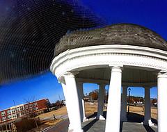 Sound Dome Ruptures the Sky (byzantiumbooks) Tags: loud dome gazebo sky waves distortion werehere hereios shockofthenew