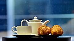The Good Morning Cup (Sanjiban2011) Tags: food foodphotography bokeh depthoffield morning breakfast culinary tea coffee teacup croissant stilllife objects arrangements tabletop indoor nikon d750 tamron tamron70200 fullframe