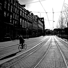 Amsterdam, Netherlands (pom.angers) Tags: panasonicdmctz10 bike bicycle streetpicture woman railway amsterdam northholland netherlands europeanunion 100