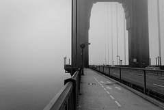 The gate (Guillaume DELEBARRE (off for a while)) Tags: noiretblanc nb bw blackandwhite california californie goldengate sanfrancisco usa amérique america canon 6d tamron2470f28 fog brume brouillard mood grey wow