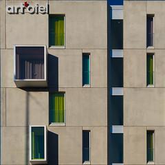 facade (morbs06) Tags: cologne köln rheinauhafen abstract architecture building city colour facade hotel light lines square stripes urban windows