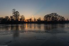 lac daumesnil au couché du soleil (ympondaven) Tags: trees france paris lake winter sunset frozen