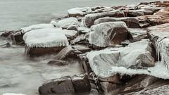 Ice on the Stones (Vasil1978) Tags: lake ice minnesota outdoor rocks stones nature nationalpark noperson natural night superior winter duluth d810