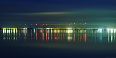 Shore of night (fredf34) Tags: thau étangdethau reflets reflection reflexion pond étang k3 pentax pentaxk3 fredf34 fredf fredfu34 frédéricfuentes hdpentaxda1685mmf3556eddcwr clouds panorama paysage landscape ciel sky nuages night shoreofnightthau shore mèze bouzigue