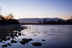 Fiume Piave (Bigna Bi) Tags: fiumi notte panorama piave lagrandeguerra ponte