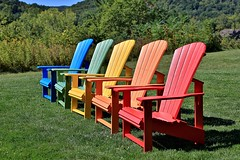 Colorful Adirondack chairs (nutzk) Tags: furniture adirondack chair color