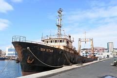 """""""SIX STAR"""" - IMO 6725509 (Rick Vince) Tags: sixstar imo6725509 fishingvessel fishingship abandoned puertodelaspalmas"""