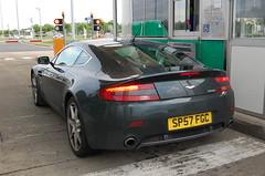 Aston Martin V8 Vantage (D's Carspotting) Tags: aston martin v8 vantage france coquelles calais grey 20100613 sp57fgc le mans 2010 lm10 lm2010