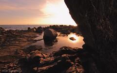 Stone at the sea (- Crupi Giorgio (official)) Tags: italy liguria genova bogliasco reef sea sky stone sun seascape sunset landscape relax reflection canon canoneos7d sigma sigma1020mm