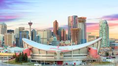 Sunset in Calgary, Alberta (Purvesh Trivedi -www.purveshtrivediphotography.com) Tags: canada sky sunrise sunset city travel ycc clouds architecture cityscape canvas print alberta toursim calgarytower explorealberta purveshtrivediphotography