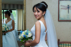 (Chris-Creations) Tags: wedding dress mirror flowers smile asian chinese girl woman pretty mei feminine femme fille attractive sweet cute beauty lovely amateur wife gorgeous beautiful glamour hair 女孩 女人 mujer niña 性感 женщина esposa petite 妻子 lady 20050612047 guapa bride people portrait