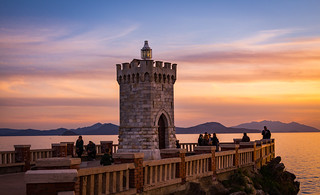 The small lighthouse in Piombino