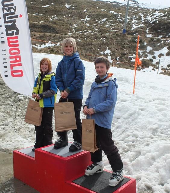 U 10 Ski 3rd Orin Harbinson 2nd Max Birkby 1st Jem Curtis