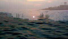 torre-mozza-alba-sovrap.jpg (_Nora_) Tags: sea colour sunrise mare colours colore torre alba colori salento puglia overlap mozza sovrapposizione
