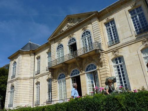 paris - musee rodin, garden view
