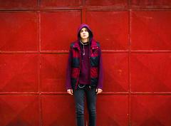 Fever (scarlat_cristy) Tags: red urban girl metal wall de garage fever vede rosiori rosioridevede