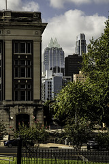 A View from the Southeast end of Capitol Grounds (cindynance) Tags: city trees urban architecture buildings austin cityscape texas skyscrapers tx