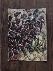 coleus and watermellon (except_us) Tags: original painting acrylic coleus watermellon