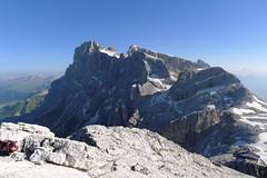 Widok na Cimon Pala ze szczytu Rosetta