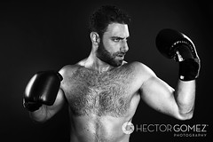 Fighter (HE~GOES) Tags: blackandwhite hairy man hot sexy male blancoynegro alex pits beard fight model box chest dramatic handsome modelo gloves boxer aggressive biceps guapo hombre barba pelo homme pecho gostoso peludo boxeador velludo
