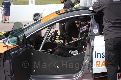 On the grid at the BTCC weekend at Rockingham, September 2015