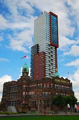 A day in Rotterdam (neil mp) Tags: sky cloud holland netherlands hotel rotterdam europe hotelnewyork wilhelminakade hollandamerikalijn