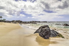 the north shore (DMotown) Tags: ocean sky color beach nature water rock clouds hawaii sand waves peace pacific oahu coastal northshore coastline hdr