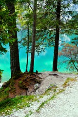 DSC_0123 modi (erikarizz8) Tags: blue light italy mountain lake green colors tyrol braies sud torquoise