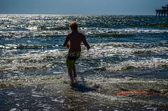 Beach Fun in the Sun!! (patrickburke1969) Tags: ocean people shells white black beach water pier surf wake action seashell boarding