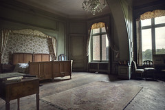 The Masters bedroom (andre govia.) Tags: urban house abandoned canon photography bedroom chair photos decay ghost down andre haunted creepy master urbanexploration planet mansion manor decayed decaying closeddown urbex govia andregovia