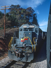 CRR 8203 at Marion, NC on November 18, 1986 (railfan 44) Tags: clinchfield