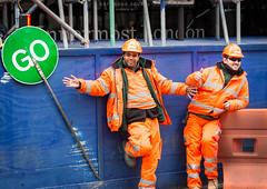 Go - 289/365 (Mr Moss) Tags: street blue orange london sign go builders 365 londonist