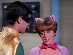 Burt Ward as Robin and Lesley Gore as Pussycat (Tom Simpson) Tags: show robin television vintage costume tv batman 1967 tvshow tight pussycat burtward lesleygore vintagetelevision batman1966 1966batman