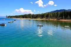 Out on the Water (Explore Nov 3, 2015 #292) (Joe Lach) Tags: blue lake green beach water boats bay boat cove nevada laketahoe pinetrees southlaketahoe zephyrcove joelach