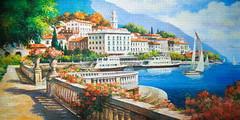 Copy of ''Idyllic Landscape of the Lake Como'' # Идиллический пейзаж озера Комо, 4000 (C-400010) (Dijazz) Tags: puzzle castorland