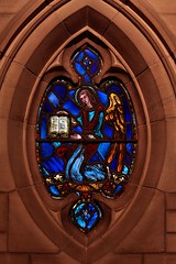 Angel with the Book of Life (H - - J) Tags: window angel chapel indoor stainedglass bookoflife necropoliscemetery ayriespirit