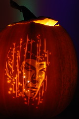 Spock 3 (Norbini) Tags: startrek halloween pumpkin stencil pattern jackolantern carving beam pumpkincarving spock vulcan leonardnimoy trekkie transporter pumkin nimoy beaming mrspock teleport scienceofficer misterspock